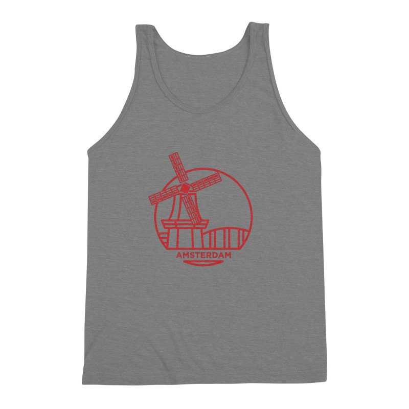 Amsterdam Mill Men's Triblend Tank by BMaw's Artist Shop
