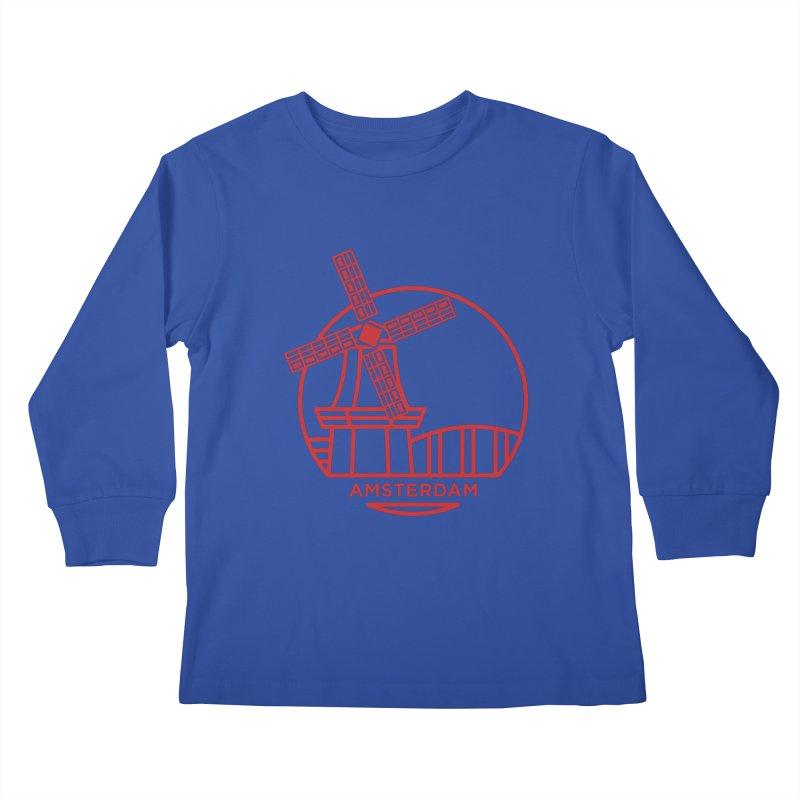 Amsterdam Mill Kids Longsleeve T-Shirt by BMaw's Artist Shop