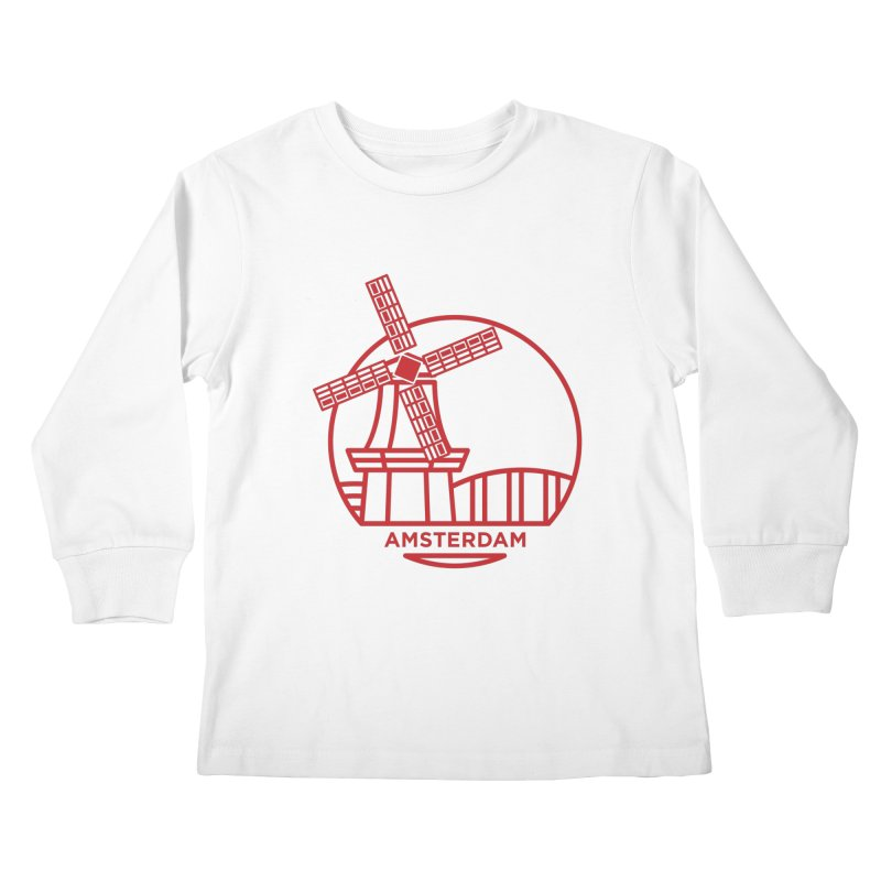 Amsterdam Mill Kids Longsleeve T-Shirt by BMaw's Artist Shop
