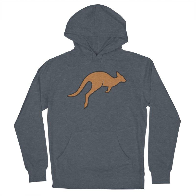 Jumping Kangaroo Men's Pullover Hoody by BMaw's Artist Shop