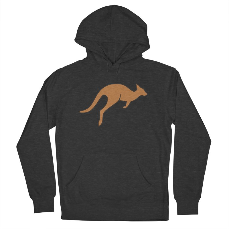 Jumping Kangaroo Men's French Terry Pullover Hoody by BMaw's Artist Shop