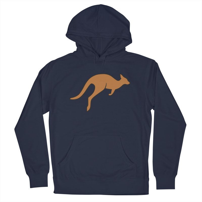 Jumping Kangaroo Men's Pullover Hoody by BMaw's Artist Shop