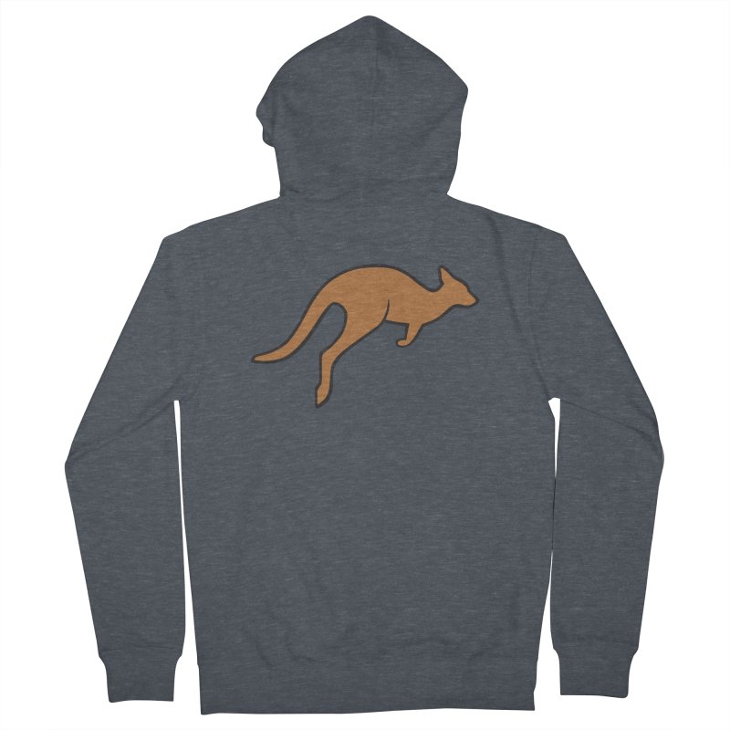 Jumping Kangaroo Women's Zip-Up Hoody by BMaw's Artist Shop