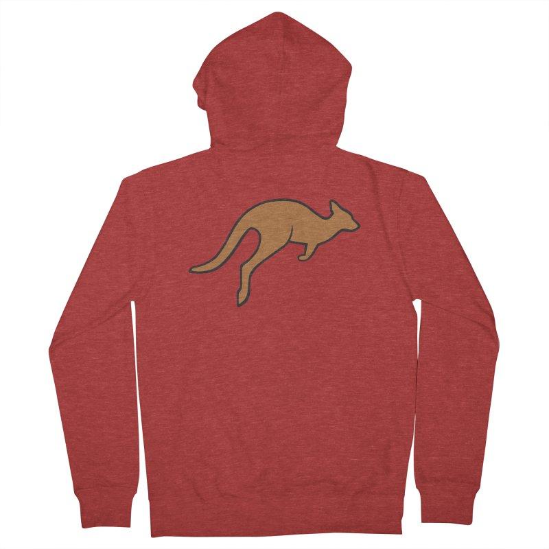 Jumping Kangaroo Women's Zip-Up Hoody by BMaw's Artist Shop