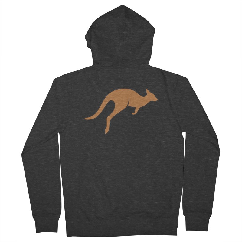 Jumping Kangaroo Men's Zip-Up Hoody by BMaw's Artist Shop
