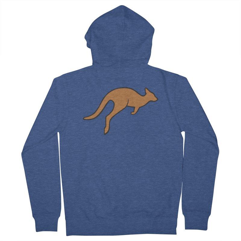 Jumping Kangaroo Men's Zip-Up Hoody by BMaw's Artist Shop