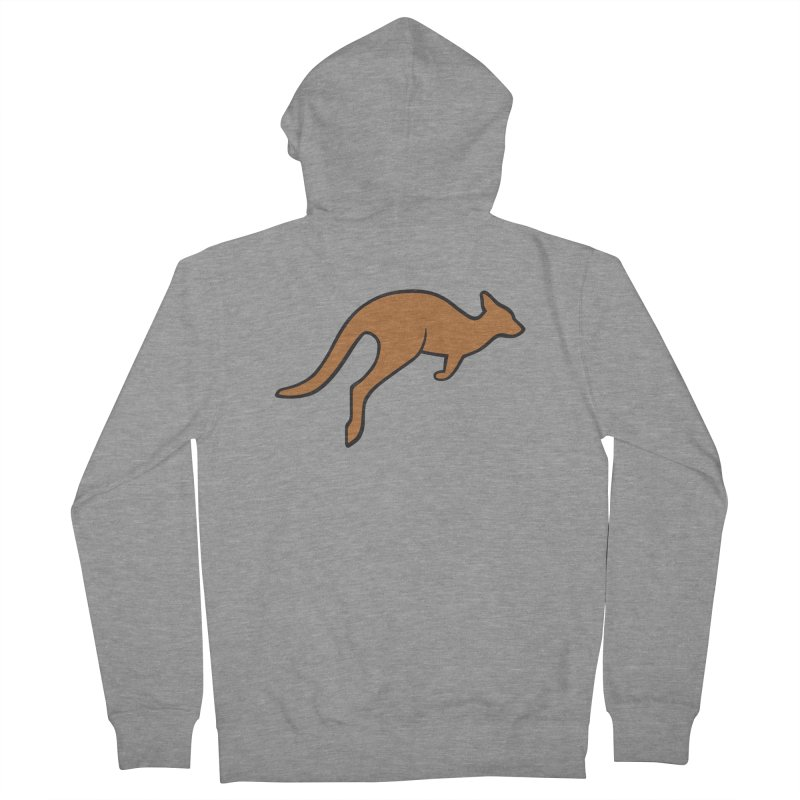 Jumping Kangaroo Men's French Terry Zip-Up Hoody by BMaw's Artist Shop