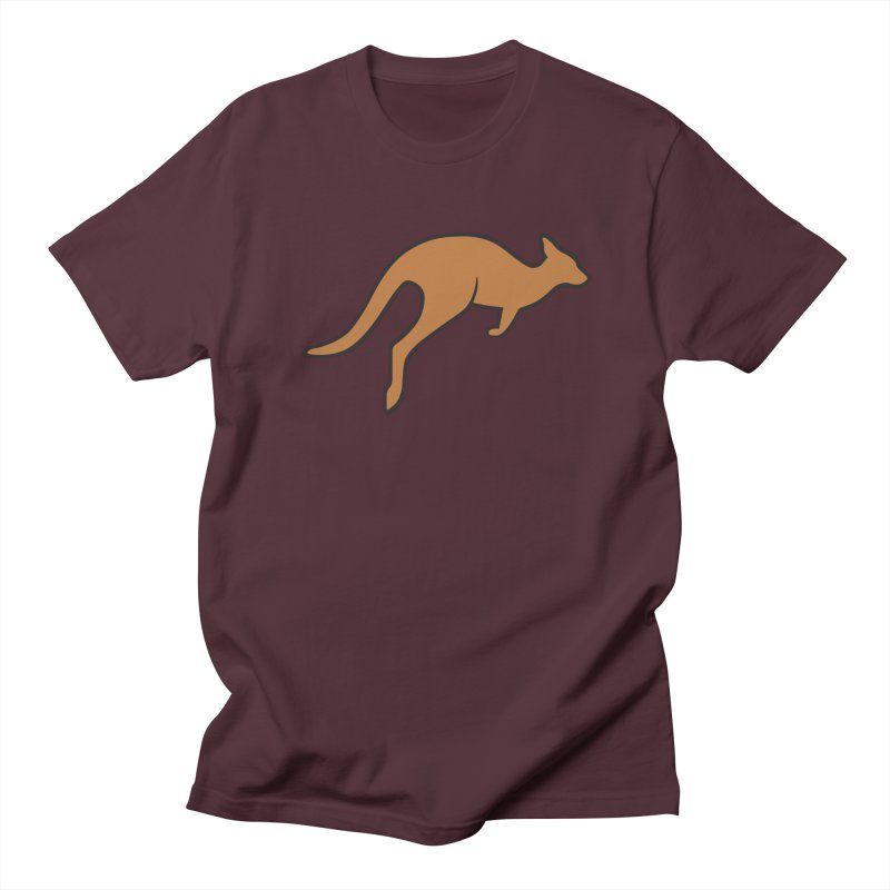 Jumping Kangaroo Men's T-shirt by BMaw's Artist Shop