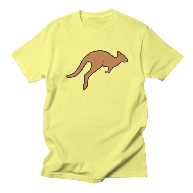 Jumping Kangaroo Men's Regular T-Shirt by BMaw's Artist Shop