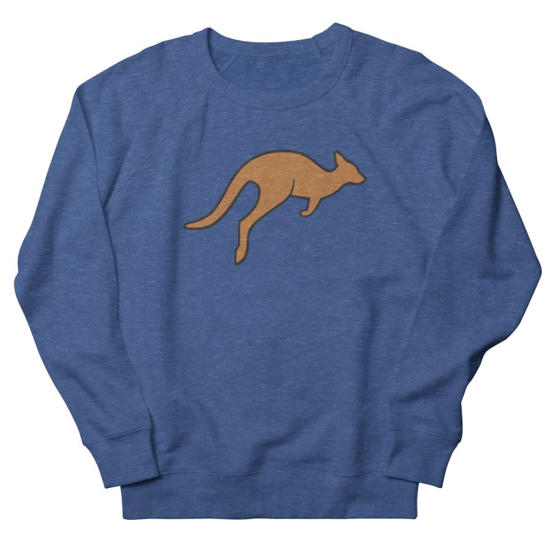 Jumping Kangaroo Women's French Terry Sweatshirt by BMaw's Artist Shop