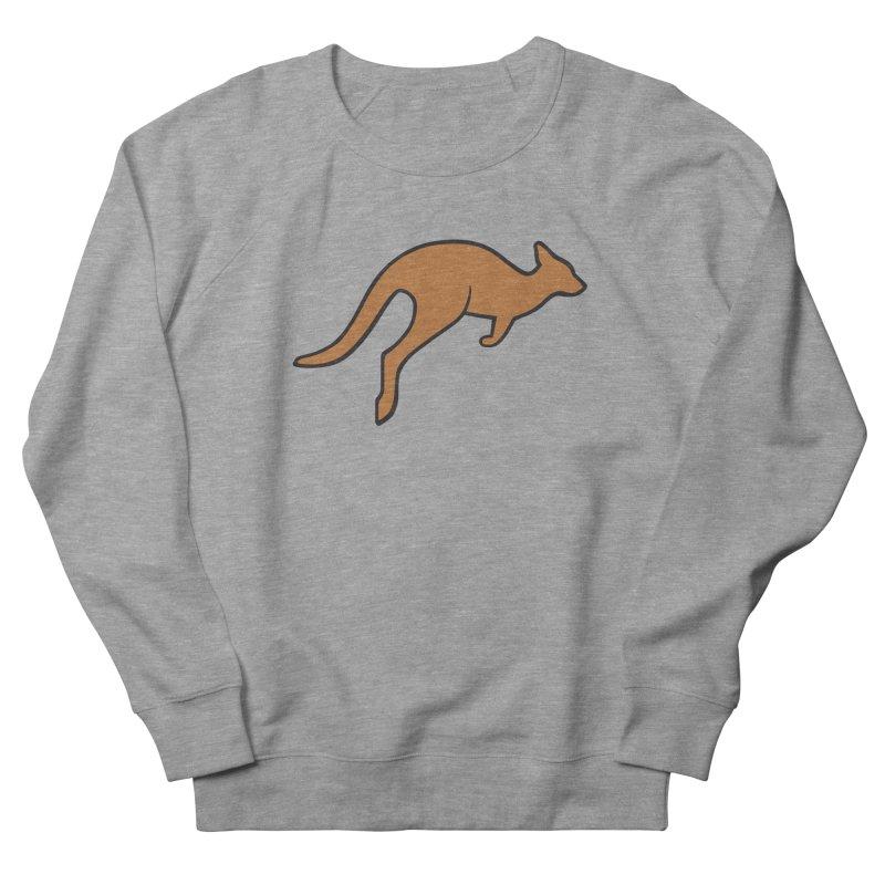 Jumping Kangaroo Women's French Terry Sweatshirt by BMaw's Artist Shop