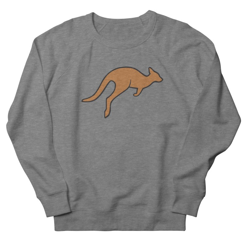 Jumping Kangaroo Men's French Terry Sweatshirt by BMaw's Artist Shop
