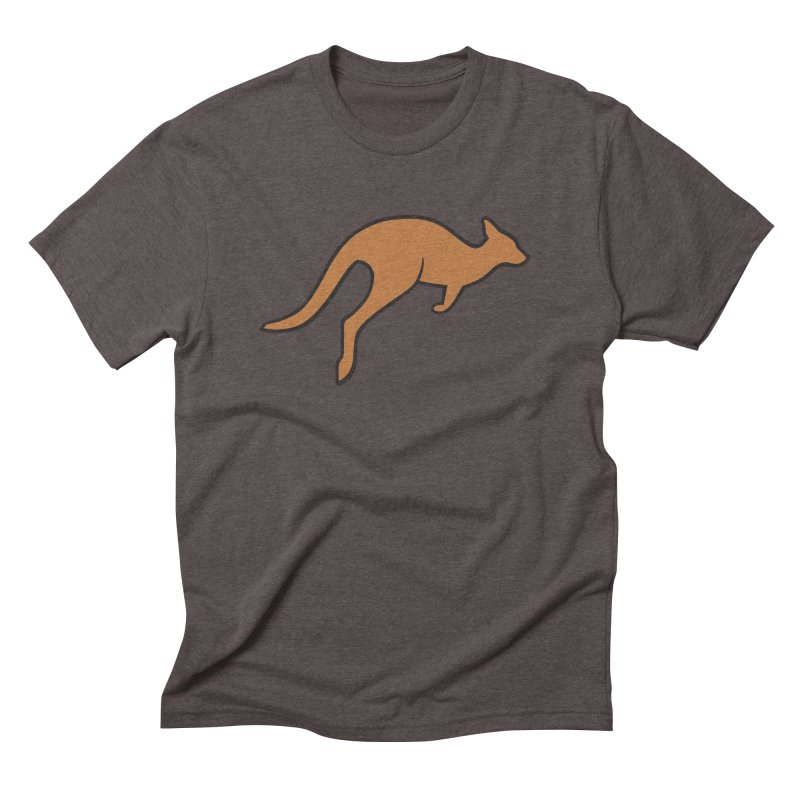 Jumping Kangaroo Men's Triblend T-Shirt by BMaw's Artist Shop