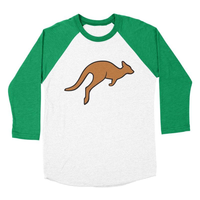 Jumping Kangaroo Women's Baseball Triblend T-Shirt by BMaw's Artist Shop