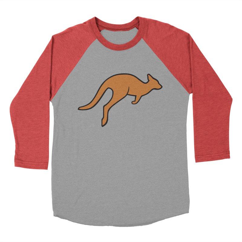 Jumping Kangaroo Women's Baseball Triblend Longsleeve T-Shirt by BMaw's Artist Shop