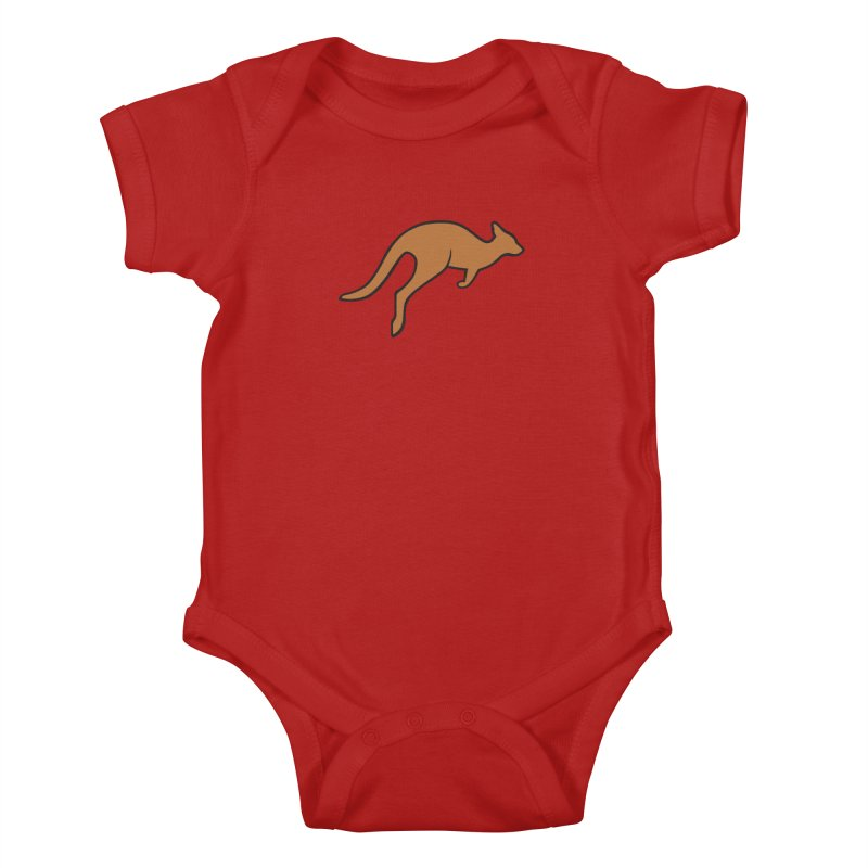 Jumping Kangaroo Kids Baby Bodysuit by BMaw's Artist Shop