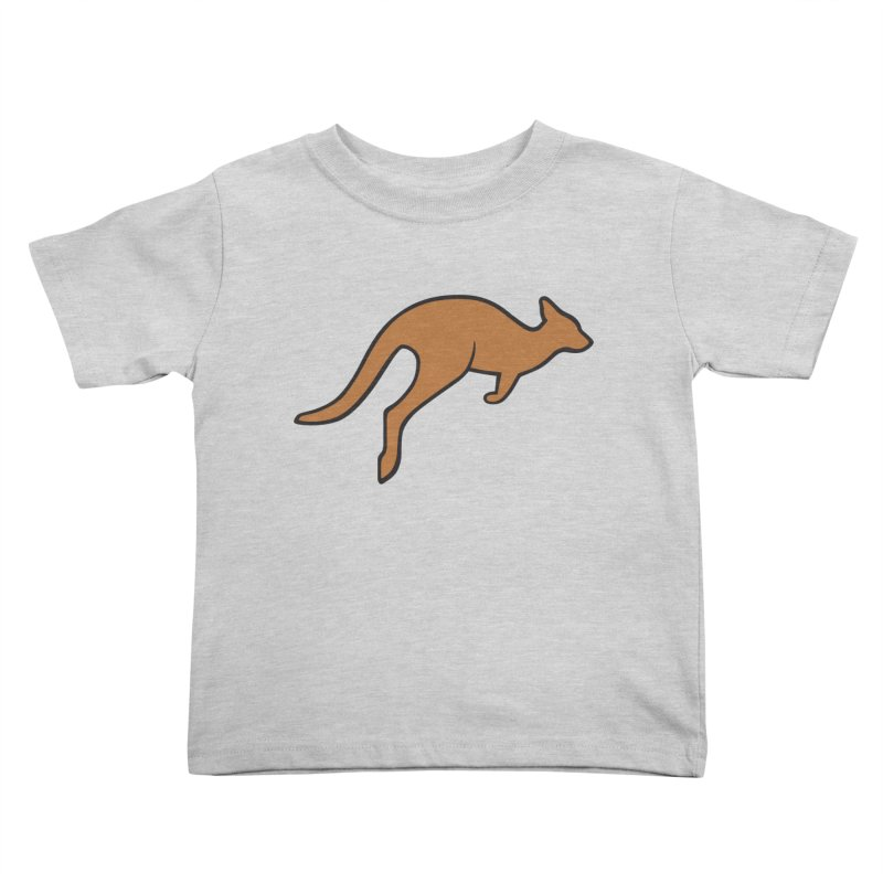 Jumping Kangaroo Kids Toddler T-Shirt by BMaw's Artist Shop