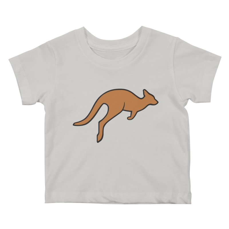 Jumping Kangaroo Kids Baby T-Shirt by BMaw's Artist Shop