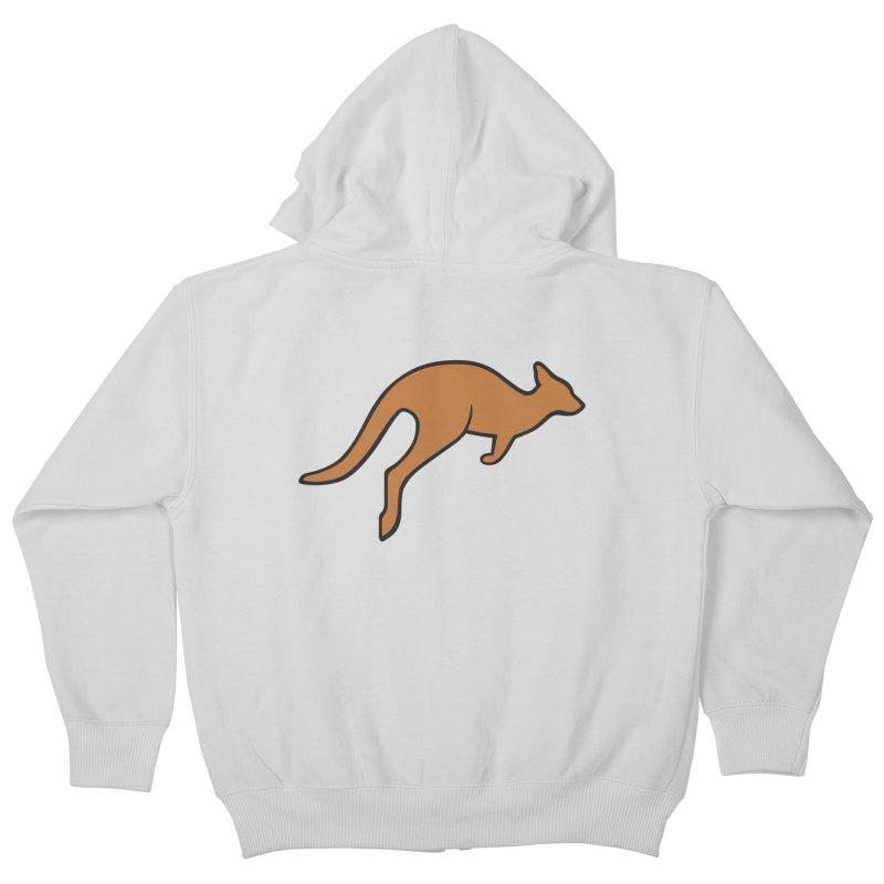 Jumping Kangaroo Kids Zip-Up Hoody by BMaw's Artist Shop