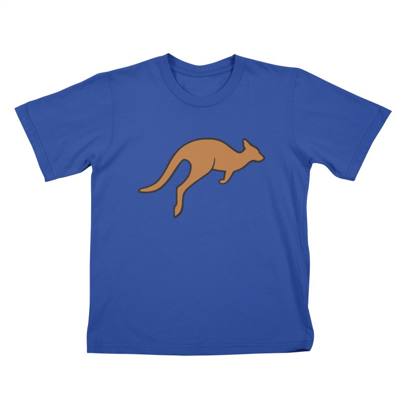 Jumping Kangaroo Kids T-Shirt by BMaw's Artist Shop