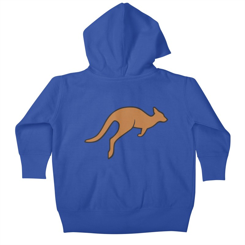 Jumping Kangaroo Kids Baby Zip-Up Hoody by BMaw's Artist Shop