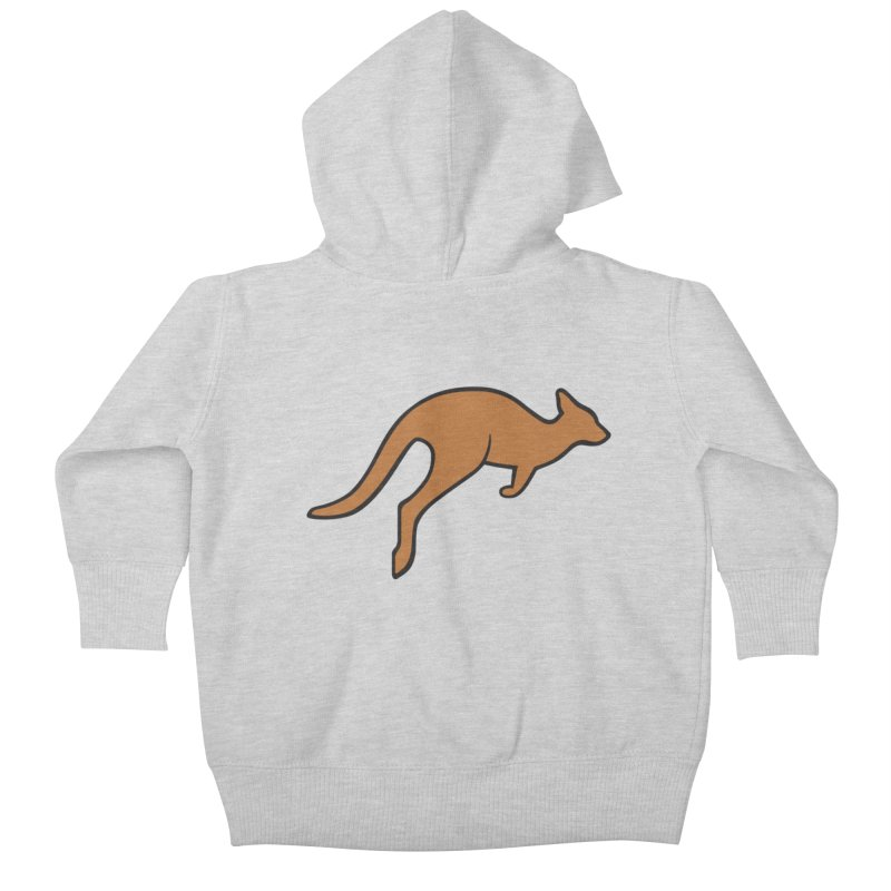 Jumping Kangaroo Kids Baby Zip-Up Hoody by BMaw's Artist Shop