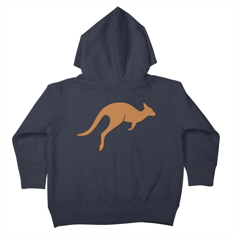 Jumping Kangaroo Kids Toddler Zip-Up Hoody by BMaw's Artist Shop