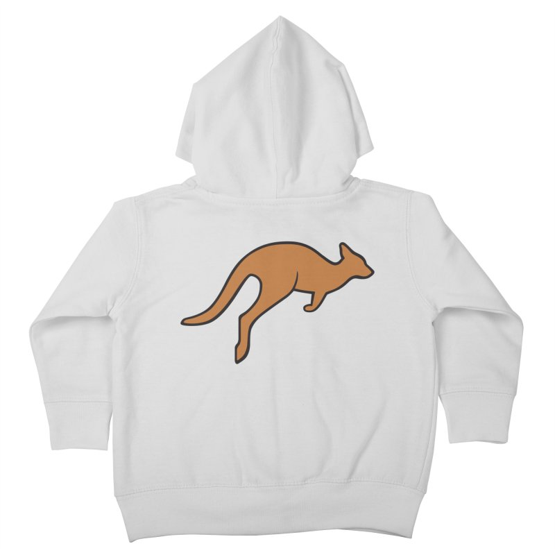 Jumping Kangaroo Kids Toddler Zip-Up Hoody by BMaw's Artist Shop