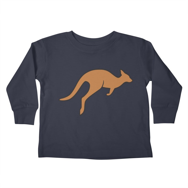 Jumping Kangaroo Kids Toddler Longsleeve T-Shirt by BMaw's Artist Shop
