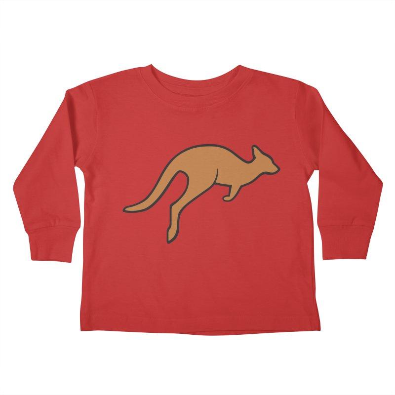 Jumping Kangaroo Kids Toddler Longsleeve T-Shirt by BMaw's Artist Shop