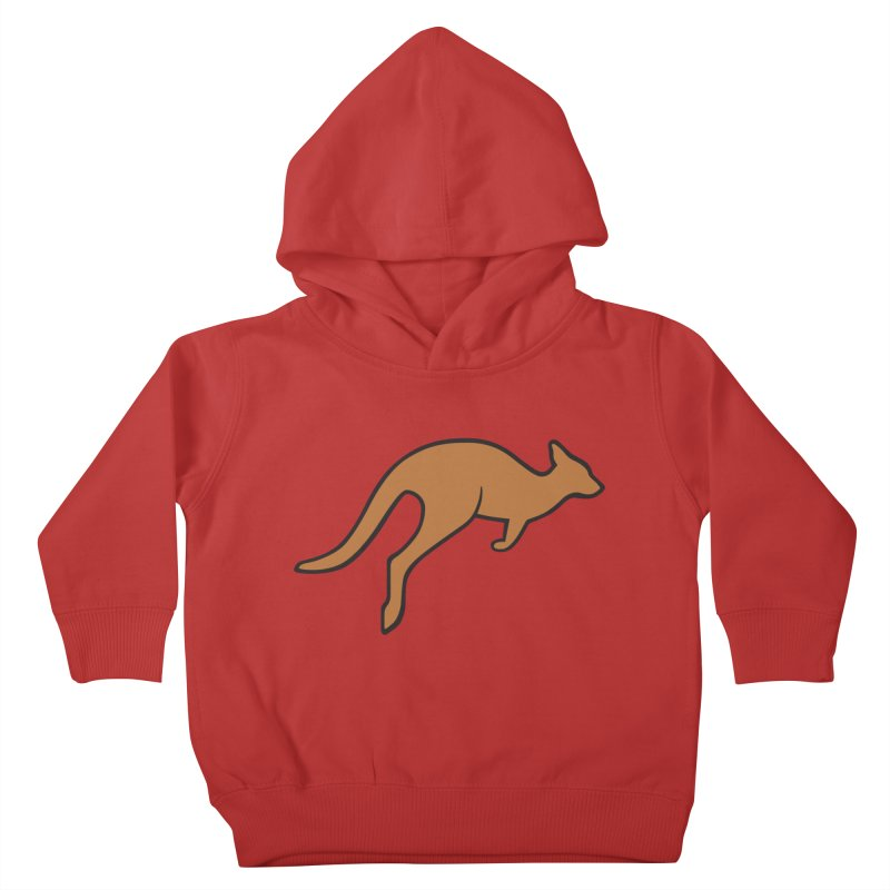 Jumping Kangaroo Kids Toddler Pullover Hoody by BMaw's Artist Shop