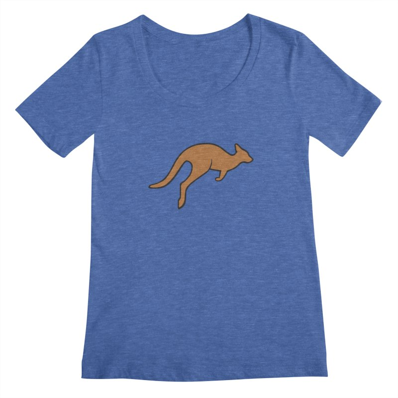 Jumping Kangaroo Women's Scoopneck by BMaw's Artist Shop