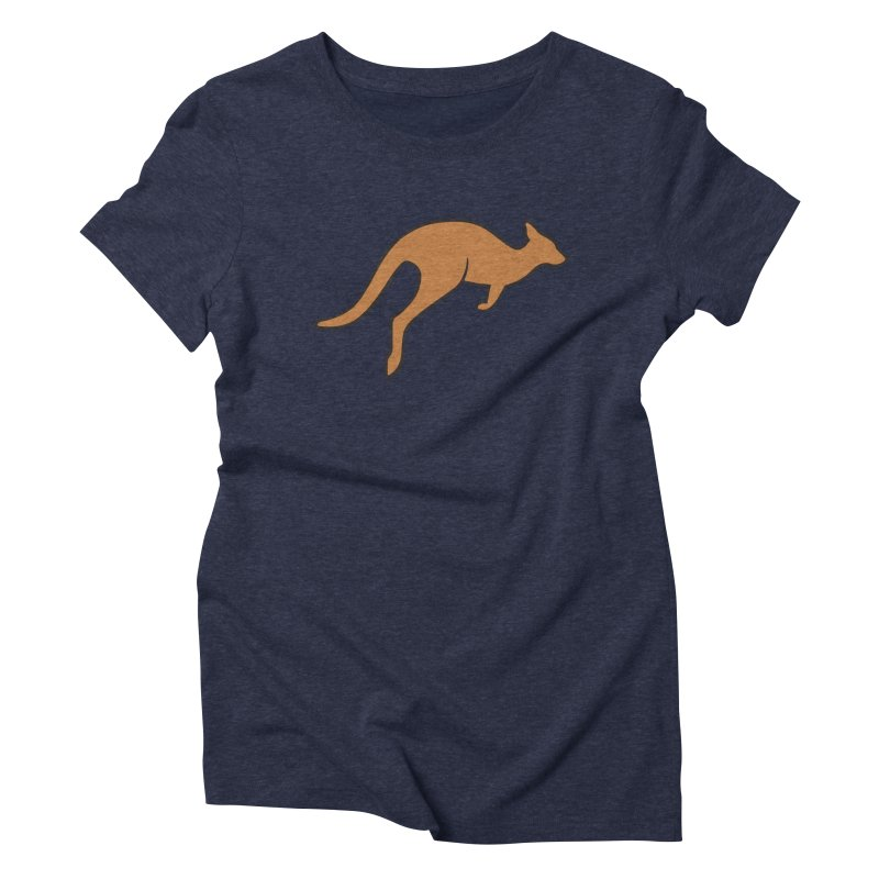 Jumping Kangaroo Women's Triblend T-shirt by BMaw's Artist Shop