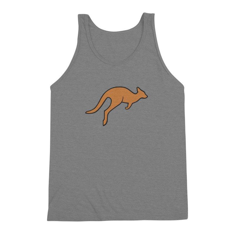 Jumping Kangaroo Men's Triblend Tank by BMaw's Artist Shop