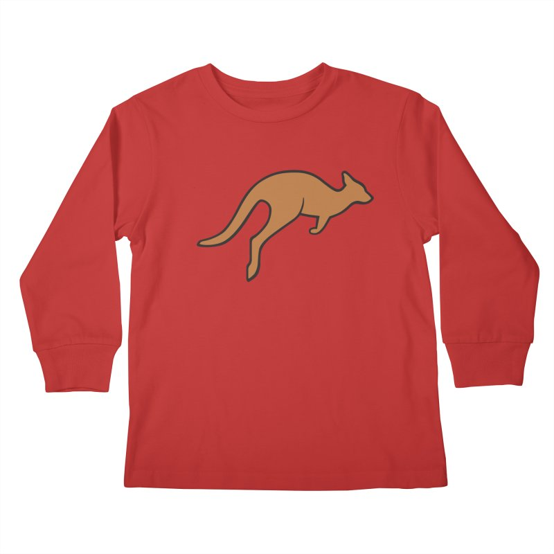 Jumping Kangaroo Kids Longsleeve T-Shirt by BMaw's Artist Shop