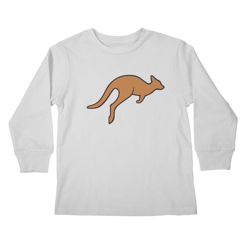 Jumping Kangaroo Kids Longsleeve T-Shirt by BMaw's Artist Shop