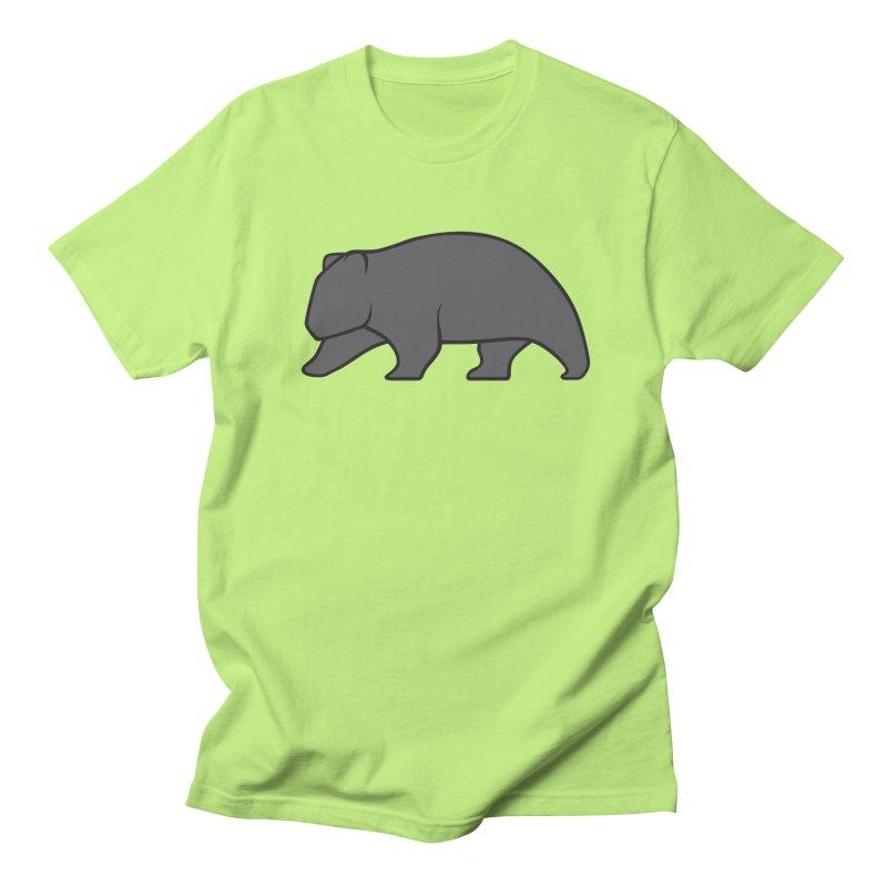 Wary Wombat Men's Regular T-Shirt by BMaw's Artist Shop