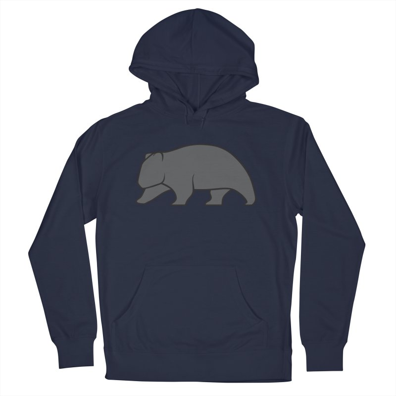 Wary Wombat Men's French Terry Pullover Hoody by BMaw's Artist Shop