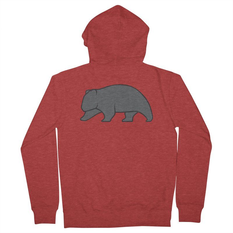 Wary Wombat Women's Zip-Up Hoody by BMaw's Artist Shop