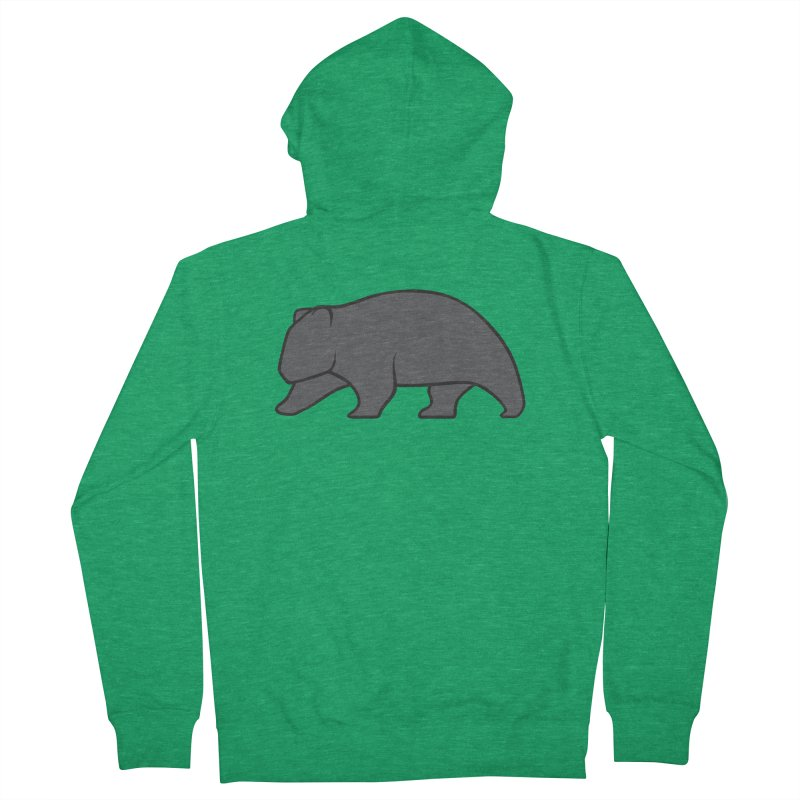 Wary Wombat Men's French Terry Zip-Up Hoody by BMaw's Artist Shop