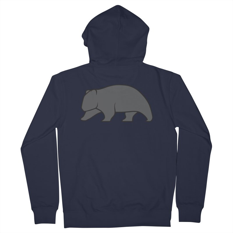 Wary Wombat Men's Zip-Up Hoody by BMaw's Artist Shop