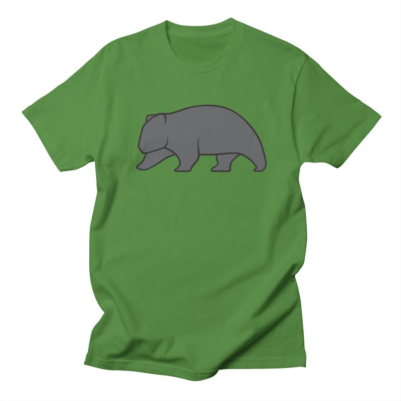 Wary Wombat Men's Regular T-Shirt by BMaw's Artist Shop