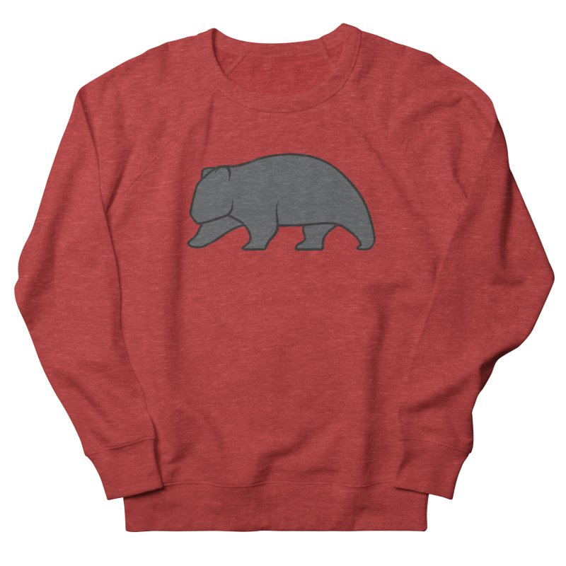 Wary Wombat Men's French Terry Sweatshirt by BMaw's Artist Shop