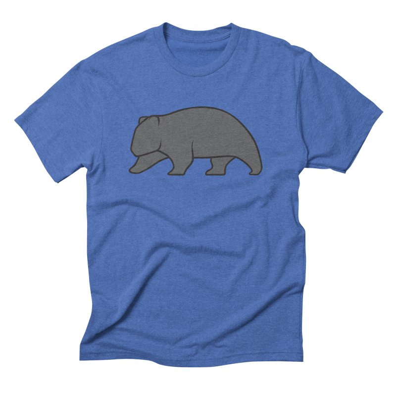 Wary Wombat Men's Triblend T-Shirt by BMaw's Artist Shop