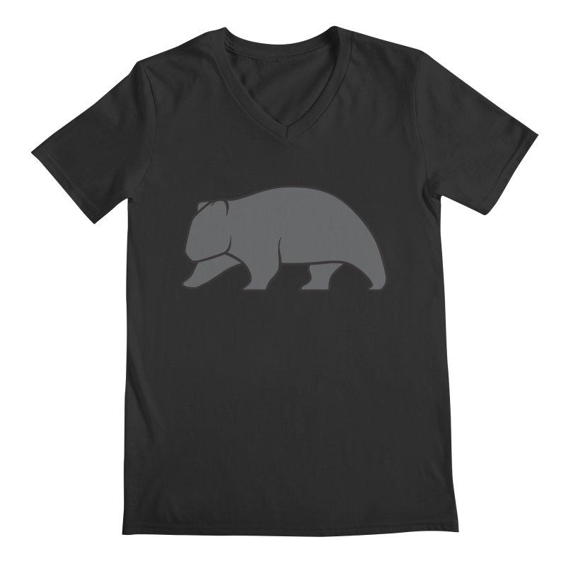 Wary Wombat Men's Regular V-Neck by BMaw's Artist Shop
