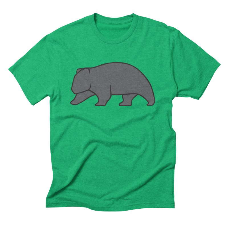 Wary Wombat Men's Triblend T-shirt by BMaw's Artist Shop