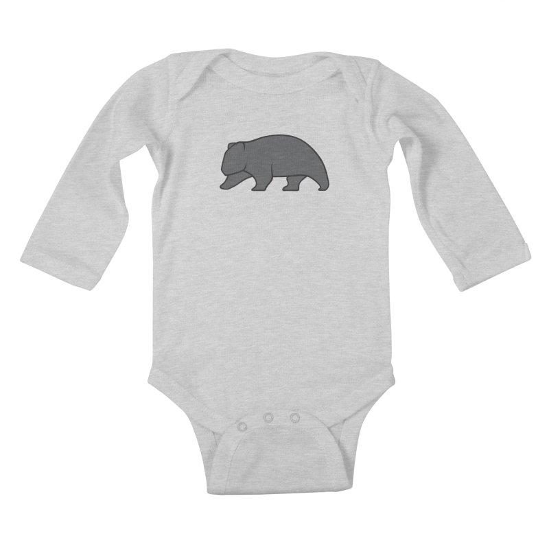 Wary Wombat Kids Baby Longsleeve Bodysuit by BMaw's Artist Shop