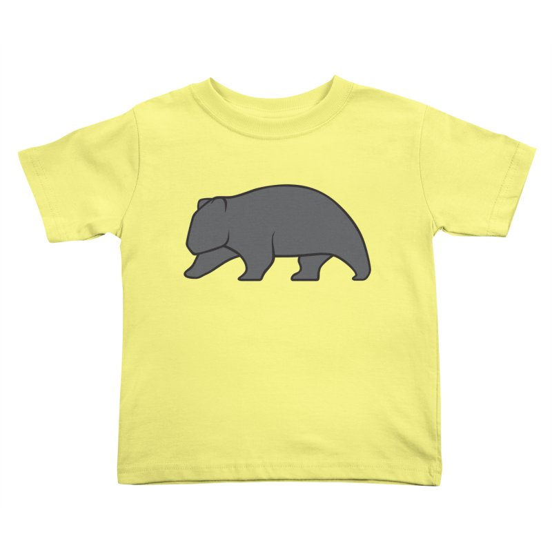 Wary Wombat Kids Toddler T-Shirt by BMaw's Artist Shop