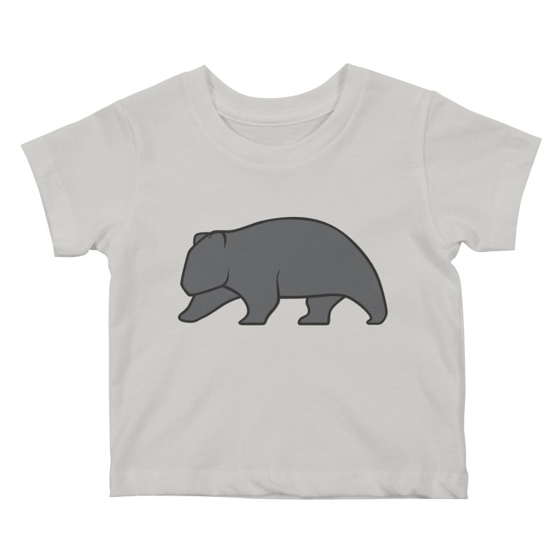 Wary Wombat Kids Baby T-Shirt by BMaw's Artist Shop