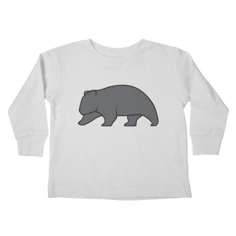 Wary Wombat Kids Toddler Longsleeve T-Shirt by BMaw's Artist Shop